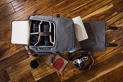 The Backpack Portage GEN4 - Camera, Laptop - Leather and Waxed Canvas