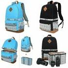Lady's Canvas DSLR Camera Bag Padding Case Travel Backpack F