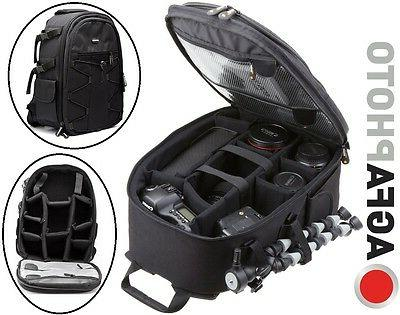 AGFAPHOTO LARGE BACKPACK CASE FOR CANON EOS REBEL XT XTi T2