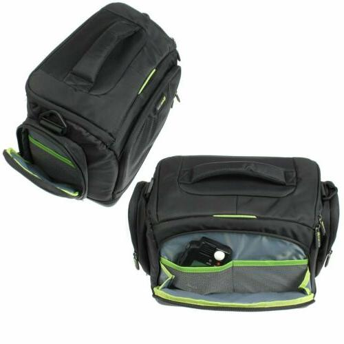 Evecase Large DSLR Bag Bag with Rain Cover,