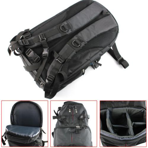 Large Nylon DSLR Camera Bag Travel Backpack For Canon Nikon