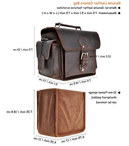 Leather Removable Case Small Bag Satchel, Dark