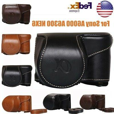 leather camera bag case cover pouch