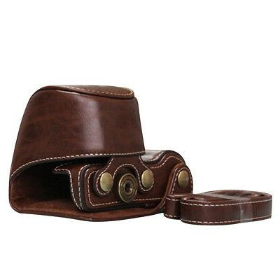 Leather Bag Cover Pouch A6000 Strap