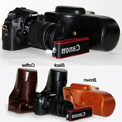 Leather Camera case bag Grip for canon Eos 80D 70D