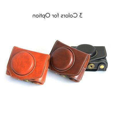 Leather Camera with for Powershot X Mark II G7X II R9N1