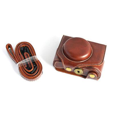 leather camera case bag with strap