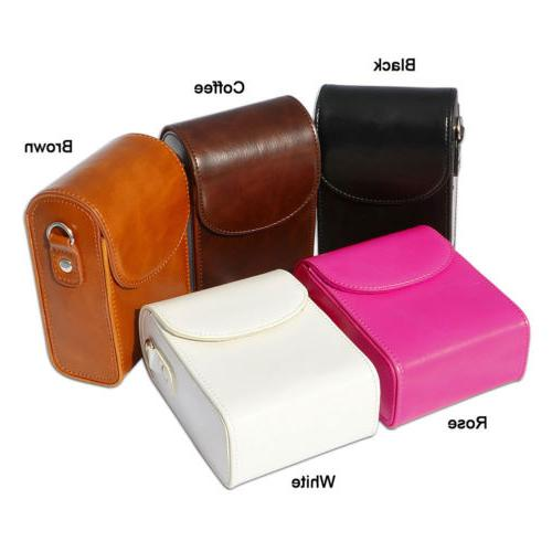 Leather Digital Camera case bag for Canon SX710 SX720 SX730