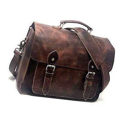 leather dslr camera bag 15 6 inch