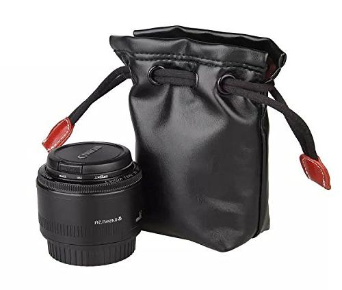 leather lens pouch bag