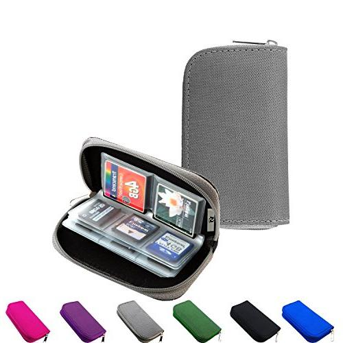 memory card carrying case holder