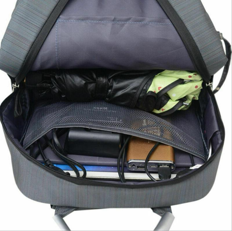 Men's Nylon DSLR Camera Bag Backpack School USB Port
