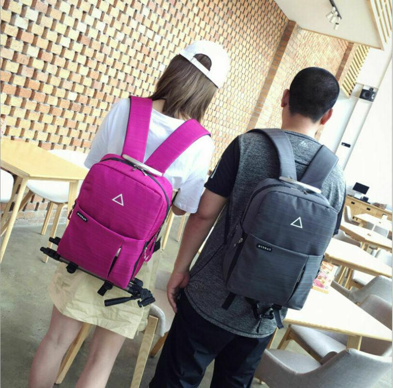 Men's Nylon Camera Backpack School & USB