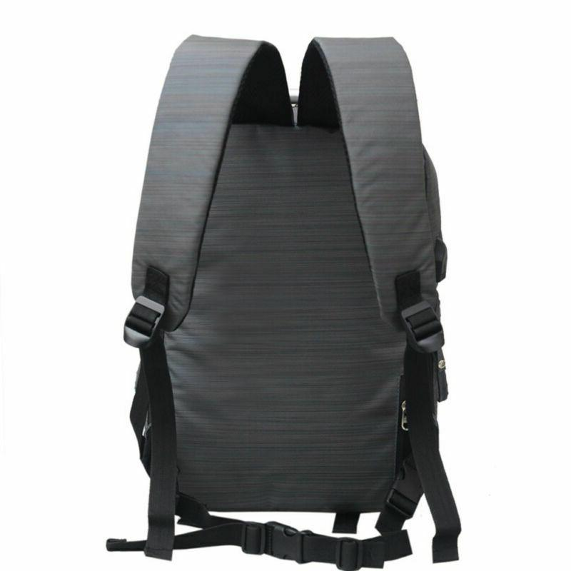 Men's Nylon Backpack Bag USB Port