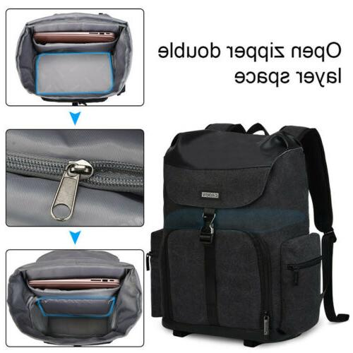 Large Black Canvas Bag For Nikon SLR