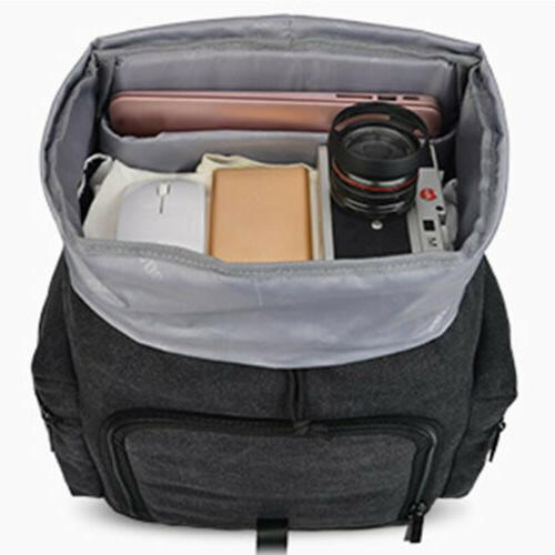 Large Black Bag Backpack For Nikon Sony SLR