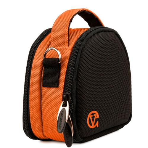 orange digital camera shoulder bag carry case