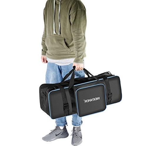 Neewer Photo Photography Carrying Case 29.1x10.6 9.84 with Shoulder and Handle Tripod, Flash and