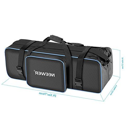 Neewer Photo Photography Carrying Case 29.1x10.6 with Tripod, Umbrella, LED Flash