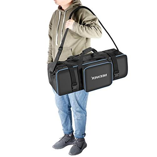 Neewer Photo Studio Photography Carrying Case 29.1x10.6 x 9.84 with Strap Handle Tripod, Umbrella, LED Flash and