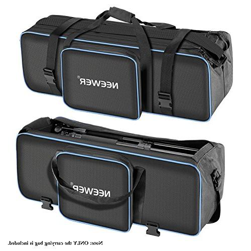 Neewer Photo Studio Photography Carrying Bag 29.1x10.6 x with Shoulder Strap and Tripod, Flash