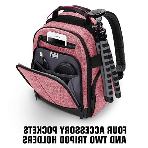 Portable Backpack DSLR/SLR USA with Customizable Weather Resistant Back Support for EOS - D3400