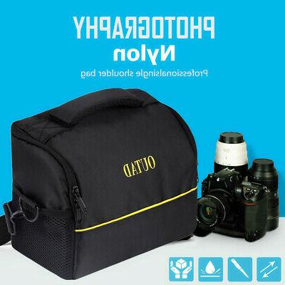 Well Padded Camera Case Bag w/ Zippered Pockets for Canon DS