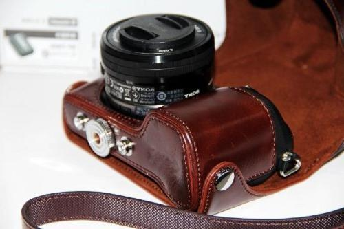 Dengpin Leather Camera Case for Sony