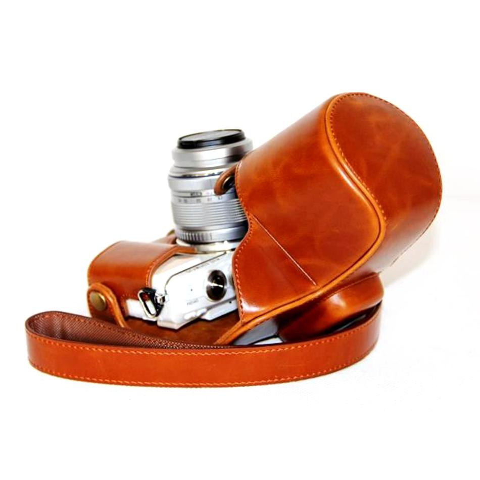 PU <font><b>leather</b></font> Case Cover EPL7 Lens Strap Case