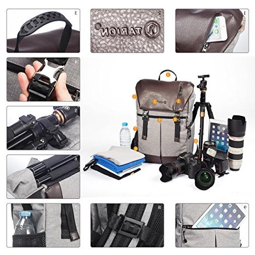 TARION with Rain and Tablet SLR/DSLR/Mirrorless Bag