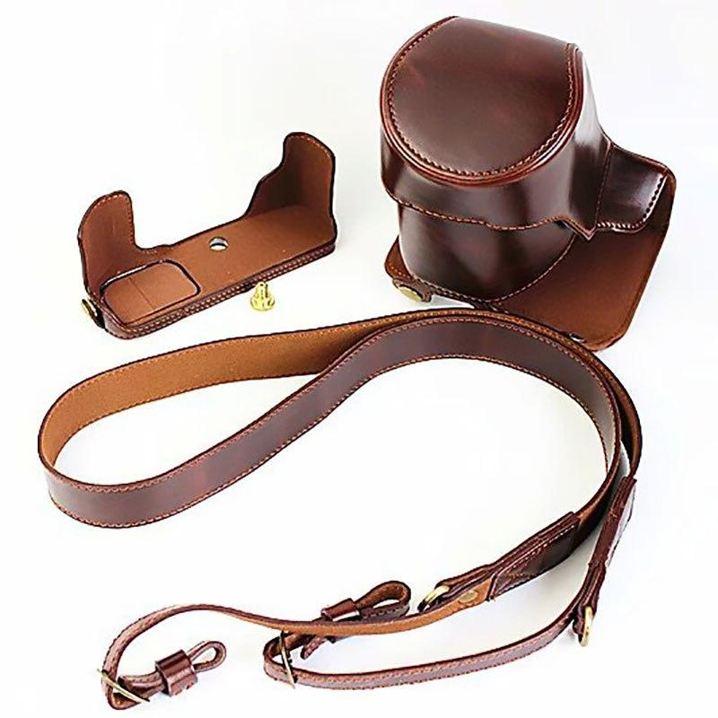 Retro Leather Case Hold-case Battery Photography Tools <font><b>OM</b></font>-<font><b>D</b></font> E-M5Markii <font><b>Camera</b></font>