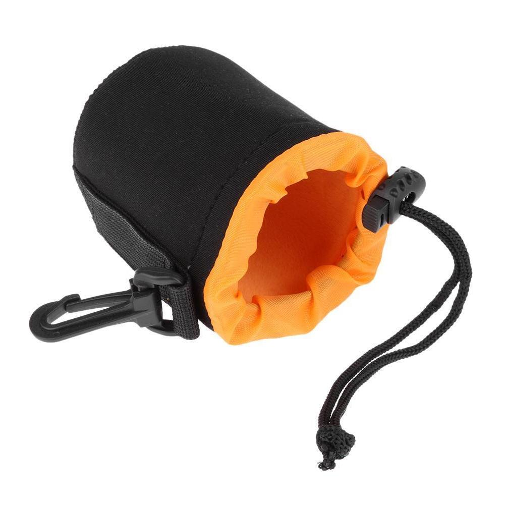 S-XL Waterproof Soft Neoprene Camera Lens Pouch Bag Drawstring