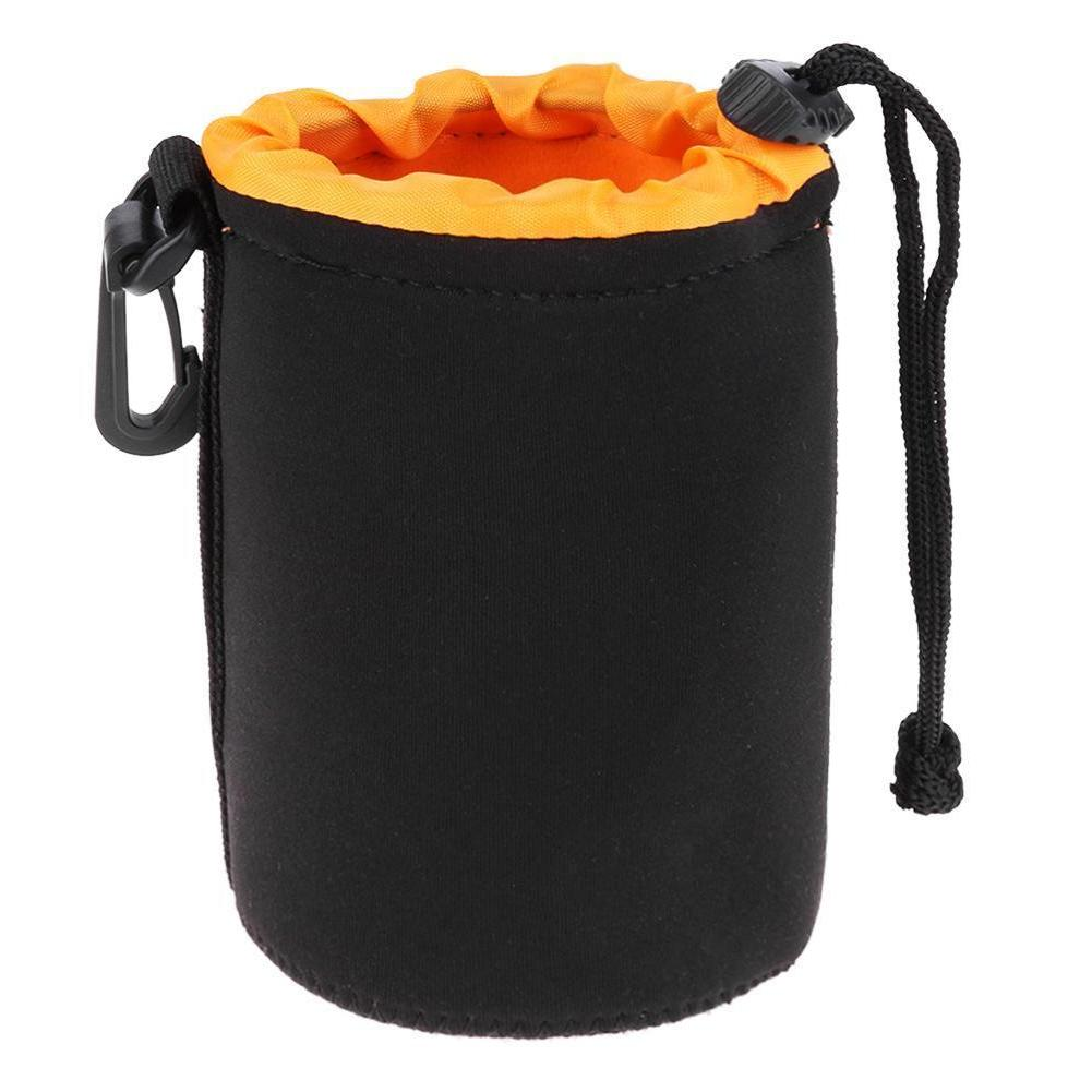 S-XL Waterproof Neoprene Camera Lens Pouch Bag Drawstring