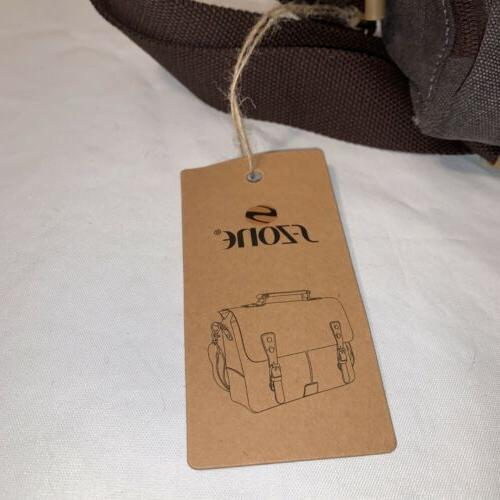 S-ZONE Bag Canvas Leather With