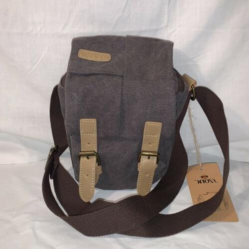 s zone waterproof camera bag canvas leather