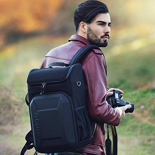 Evecase Hard DSLR Travel Camera with Cover Sony Nikon Mirrorless Lens -