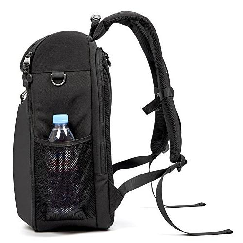 Evecase DSLR Camera Bag Travel Waterproof Camera Insert with Cover for Canon Nikon Mirrorless Lens and More Accessories -