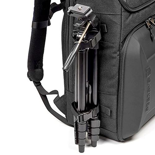 Evecase Hard Shell DSLR Bag Backpack, Travel Waterproof Laptop Camera Cover Sony Nikon Mirrorless Cameras and More Photography Accessories - Black