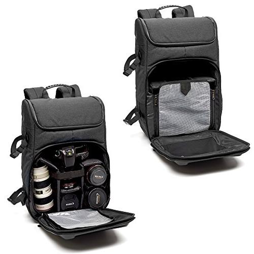 Evecase Travel Waterproof Laptop and Cover for Nikon Cameras Lens and More -