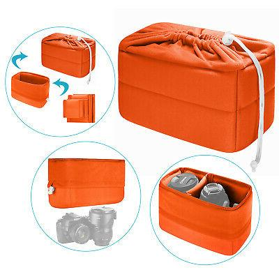 foldable padded partition insert protective camera bag