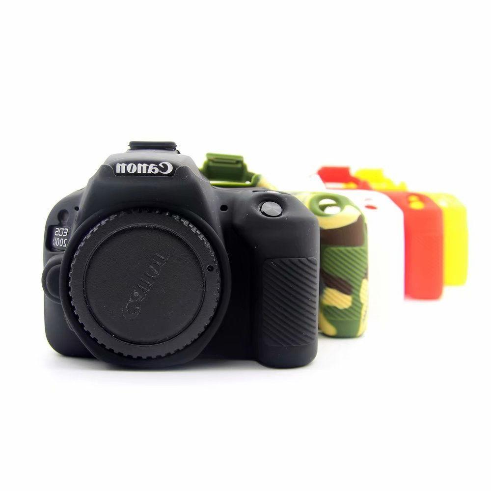 Silicone Camera Cover Case Bag for Camera Canon EOS 200D Rebel SL2