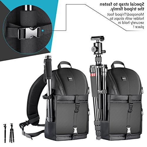 Neewer Professional Storage and Carrying Backpack for DSLR Camera, & Accessories