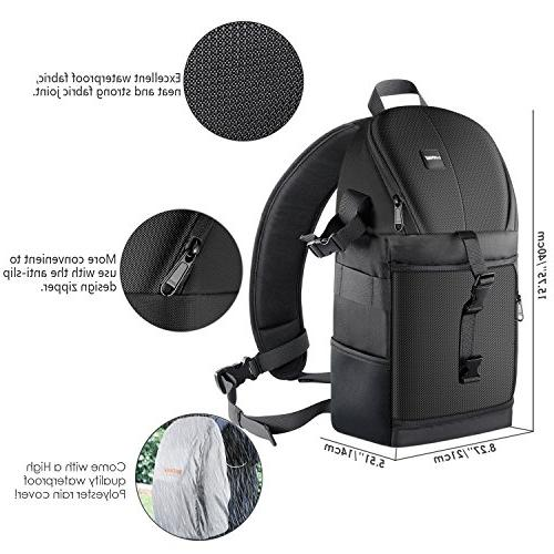 Neewer Professional Sling Storage and Tear Carrying Backpack DSLR Lens & Accessories