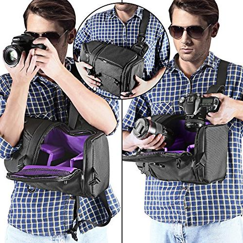 Neewer Professional Sling Storage and Carrying Case DSLR Camera, Lens Accessories NW-XJB02S