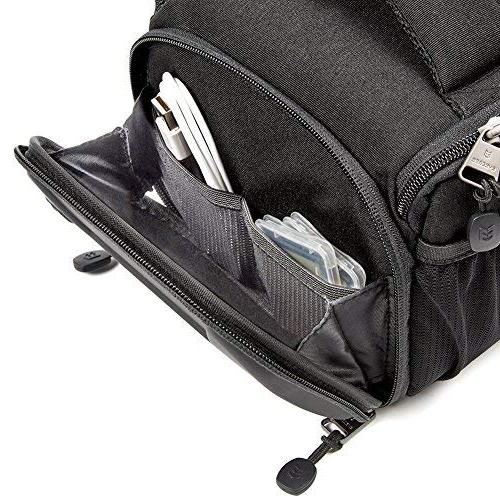 Evecase Camera Case with for Sony Mirrorless and Accessories Black
