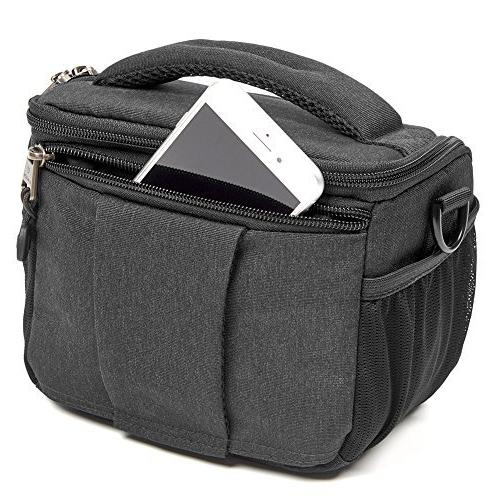 Evecase Shell Camera Bag, Waterproof Case with Rain Accessories - Black