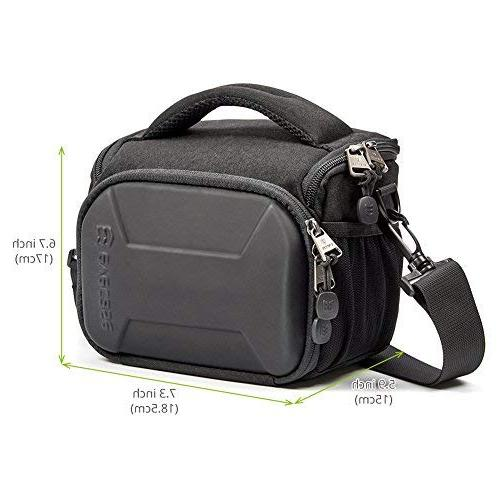 Evecase Shell Camera Bag, Waterproof Small Compact Case with Rain for Sony Nikon Mirrorless Lens and More Accessories