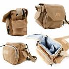 Light Brown Medium Sized Canvas Bag for Sony DSC-HX400V / DS