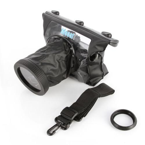 20M Underwater Waterproof Camera Case Bag Diving fr Canon 70
