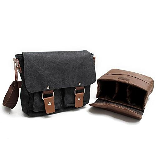 Peacechaos Canvas Trim Camera Shoulder Messenger